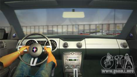 Ford Mustang GT 2005 para GTA Vice City visión correcta