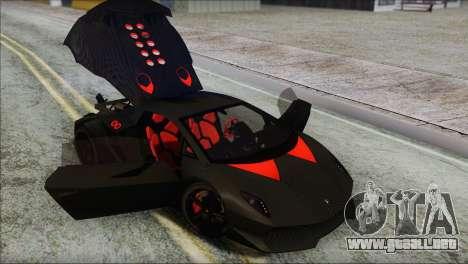 Lamborghini Sesto Elemento Concept 2010 para vista inferior GTA San Andreas