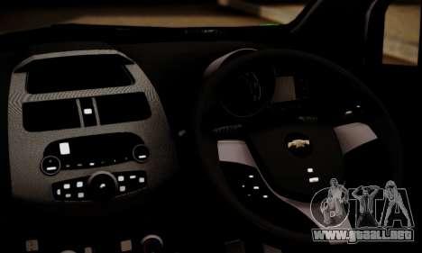 Chevrolet Spark 2011 para GTA San Andreas vista posterior izquierda