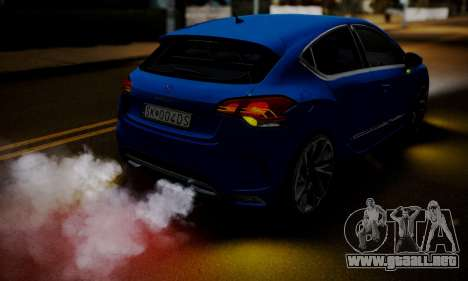 Citroen DS4 2012 para vista lateral GTA San Andreas