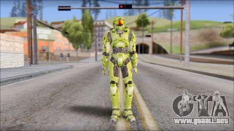 Masterchief Green from Halo para GTA San Andreas segunda pantalla