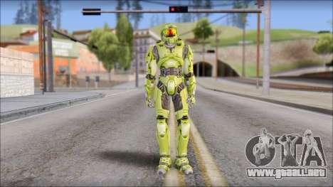 Masterchief Green from Halo para GTA San Andreas segunda pantalla