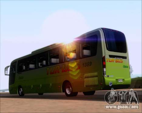 Busscar Vissta LO Scania K310 - Tur Bus para GTA San Andreas vista posterior izquierda