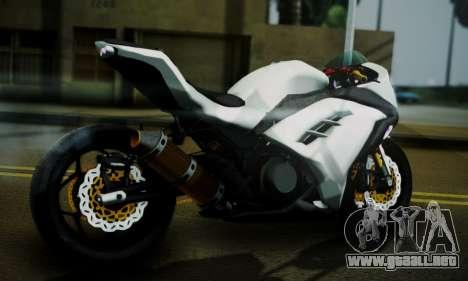 Kawasaki Ninja 250 fi para GTA San Andreas left