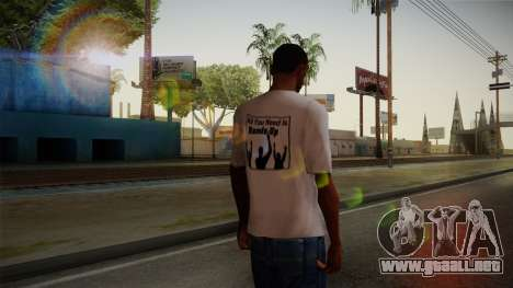 All You Need Is Hands Up T-Shirt para GTA San Andreas segunda pantalla