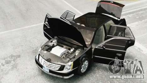 Cadillac DTS 2006 v1.0 para GTA 4 Vista posterior izquierda