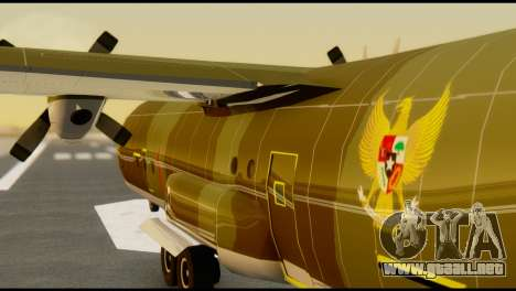 C-130 Hercules Indonesia Air Force para visión interna GTA San Andreas
