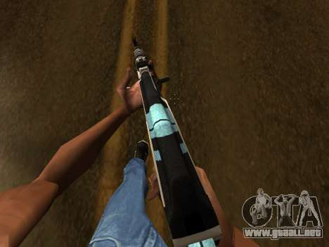 AK47 from CS:GO para GTA San Andreas tercera pantalla
