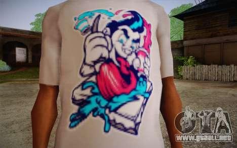 Nick Automatic T-Shirt para GTA San Andreas tercera pantalla