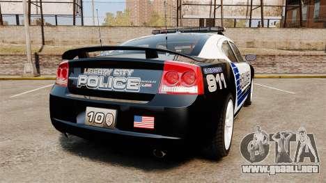 Dodge Charger SRT8 2010 [ELS] para GTA 4 Vista posterior izquierda