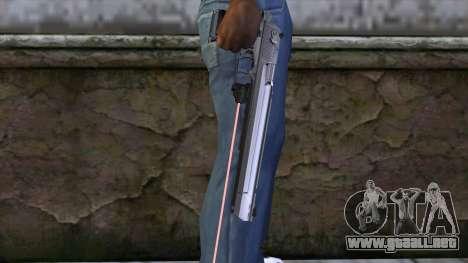 Desert Eagle con mira láser para GTA San Andreas tercera pantalla