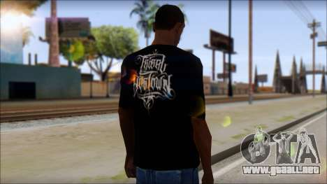 Tribal DOG Town T-Shirt Black para GTA San Andreas segunda pantalla