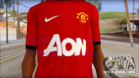 Manchester United 2013 T-Shirt para GTA San Andreas tercera pantalla