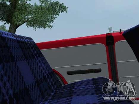 VAZ 2101 Convertible para GTA San Andreas vista hacia atrás