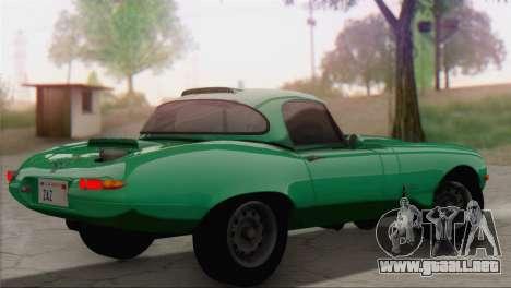 Jaguar E-Type para GTA San Andreas left