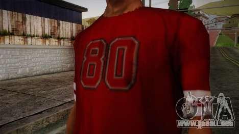 Kehed T-Shirt para GTA San Andreas tercera pantalla