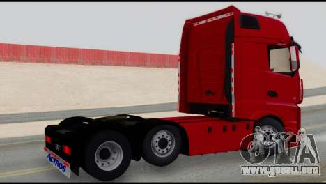Mercedes-Benz Actros para GTA San Andreas left