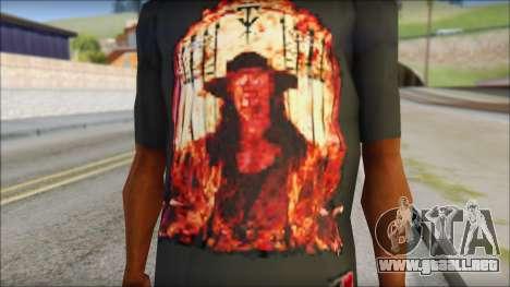 Undertaker T-Shirt para GTA San Andreas tercera pantalla