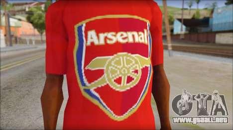 Arsenal T-Shirt para GTA San Andreas tercera pantalla
