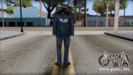 Deutscher Polizist para GTA San Andreas segunda pantalla
