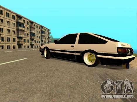 Toyota Corolla AE86 Trueno JDM para vista inferior GTA San Andreas