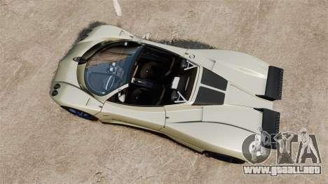 Pagani Zonda C12S Roadster 2001 v1.1 PJ1 para GTA 4 visión correcta