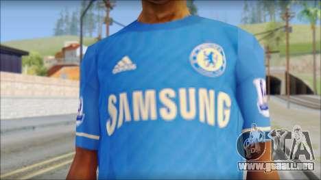 Chelsea FC 12-13 Home Jersey para GTA San Andreas tercera pantalla
