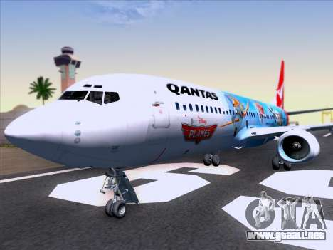 Boeing 737-800 Qantas para GTA San Andreas interior