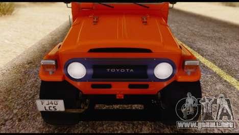 Toyota Land Cruiser (FJ40) 1978 para vista lateral GTA San Andreas