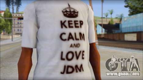 JDM Keep Calm T-Shirt para GTA San Andreas tercera pantalla
