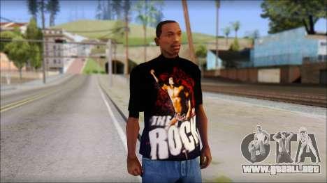 WWE The Rock T-Shirt para GTA San Andreas