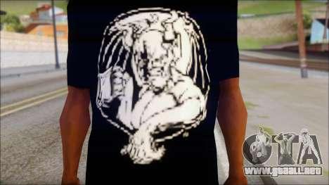 Diablo T-Shirt para GTA San Andreas tercera pantalla