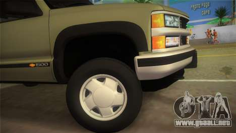 Chevrolet Suburban 1996 GMT400 para GTA Vice City vista lateral izquierdo