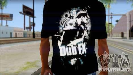 Dub Fx Fan T-Shirt v1 para GTA San Andreas tercera pantalla