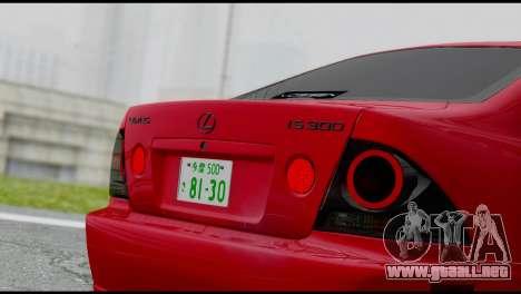 Lexus IS300 Vossen para la visión correcta GTA San Andreas