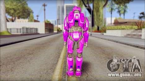 Masterchief Purple from Halo para GTA San Andreas segunda pantalla