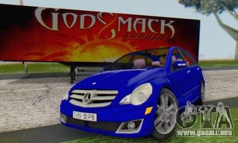 Mercedes-Benz R350 para la visión correcta GTA San Andreas
