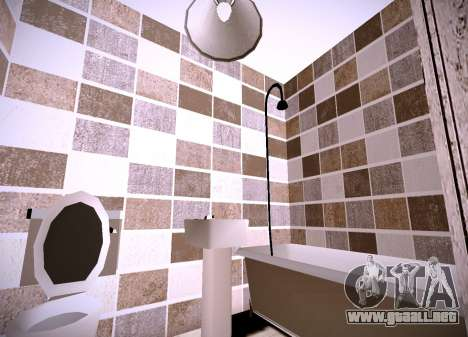 El interior de la vivienda para GTA San Andreas tercera pantalla