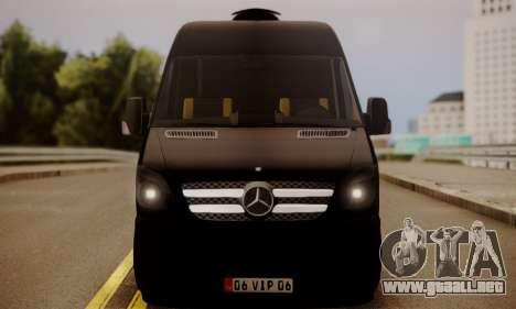 Mercedes-Benz Sprinter 315 CDi para GTA San Andreas vista posterior izquierda