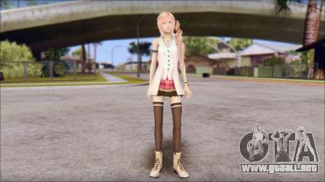 Final Fantasy XIII - Lightning Casual para GTA San Andreas