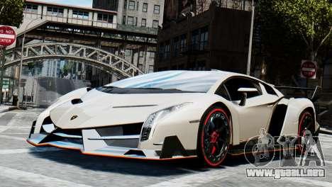 Lamborghini Veneno 2013 para GTA 4 Vista posterior izquierda
