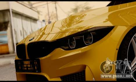 BMW M4 para vista lateral GTA San Andreas