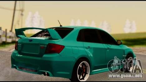 Subaru Impreza Stance Works para GTA San Andreas left