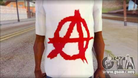 Anarchy T-Shirt v3 para GTA San Andreas tercera pantalla