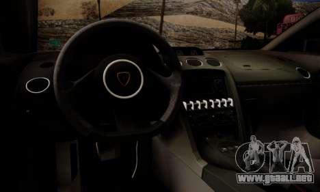 Lamborghini Gallardo LP 570-4 2011 Police v2 para el motor de GTA San Andreas