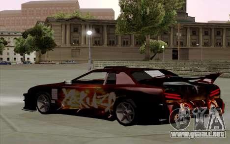 Trabajos de pintura para Yakuza Elegía para GTA San Andreas vista posterior izquierda