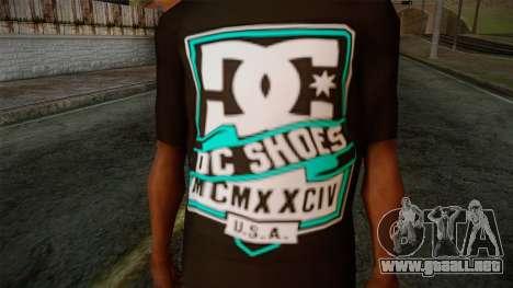 DC Shoes USA T-Shirt para GTA San Andreas tercera pantalla