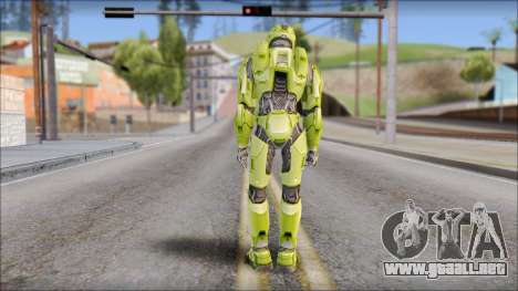 Masterchief Green from Halo para GTA San Andreas tercera pantalla