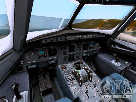 Airbus A320-214 Iberia para vista inferior GTA San Andreas