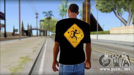 Running With Scissors T-Shirt para GTA San Andreas segunda pantalla